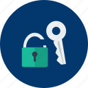 design, key, modern, padlock, protection, security, technology icon