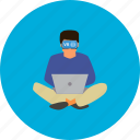 concept, design, laptop, modern, people, technology, virtual reality icon