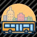 building, bus, city, transport, transportation, travel, vehicle icon