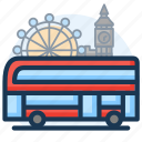 building, bus, city, london, town, transport icon