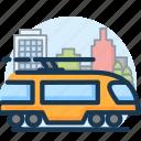 city, railway, train, transport, transportation, travel, vacation icon