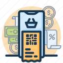 banking, business, currency, finance, money, payment, qr