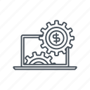 business, cog, earn, gear, internet, maintanance, shop icon