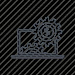 business, cog, earn, gear, internet, maintanance, shop icon