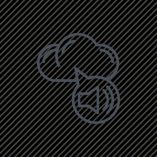 audio, audiophile, cloud, listen, music, stream music icon