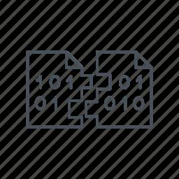 copy, data exchange, encryption, internet, syncronisation, technology, transfer icon