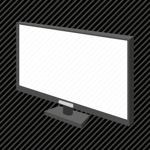 cartoon, computer, modern, monitor, network, screen, technology icon
