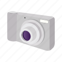 camera, cartoon, digital, lens, photo, photography, technology icon