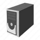 cartoon, case, computer, modern, system, technology, unit icon