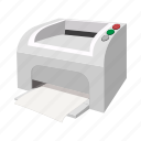 cartoon, computer, ink, machine, paper, print, printer icon