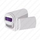 camera, cartoon, digital, media, screen, technology, video icon