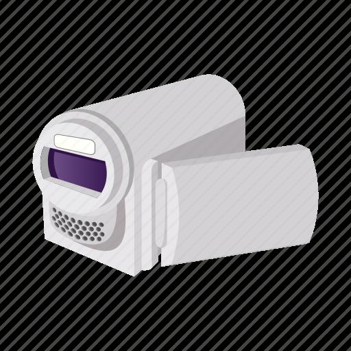 camera, cartoon, digital, media, screen, technology, video icon