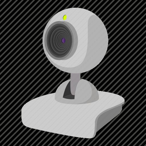 cam, camera, cartoon, computer, glass, technology, video icon