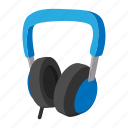 audio, big, cartoon, ear, head, headphone, phone icon