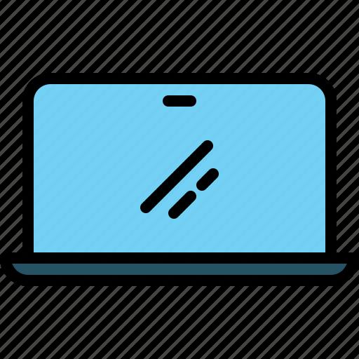computer, laptop, notebook, portable, screen, technology icon