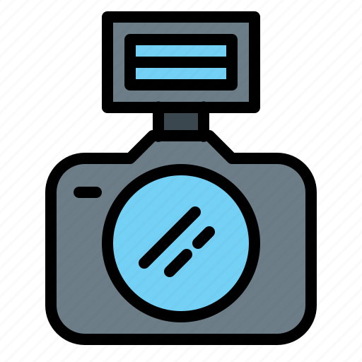 camera, dslr, flash, lens, photo, photography, technology icon