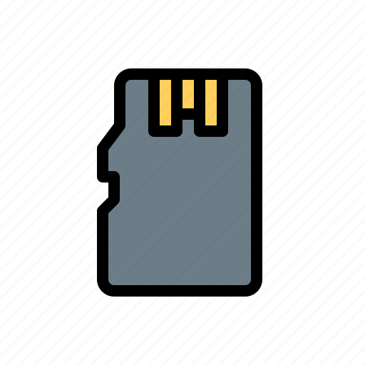 card, micro, sd, storage, technology, usb icon