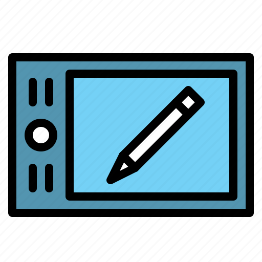 design, draw, graphic, tablet, technology icon