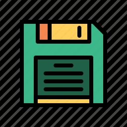 disk, floppy, old, storage, technology icon