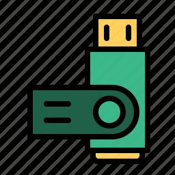 drive, pen, storage, technology, usb icon