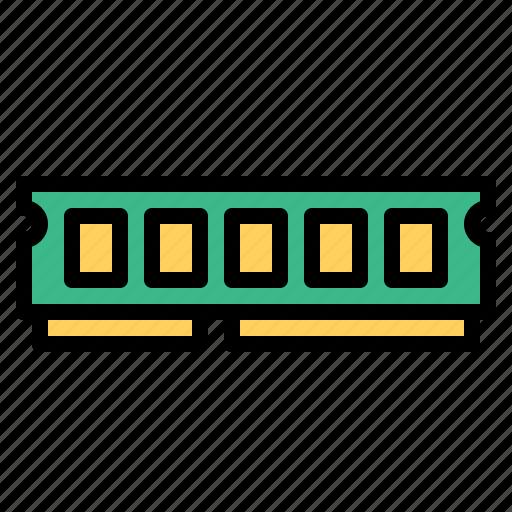 computer, gb, memory, ram, technology icon