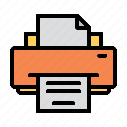 computer, ink, laser, paper, printer, technology icon