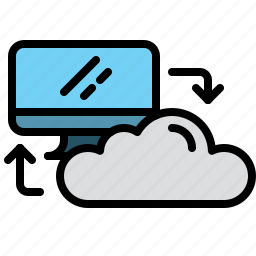 cloud, computer, connection, data, technology, transfer icon