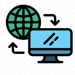 computer, connection, data, internet, technology, web icon