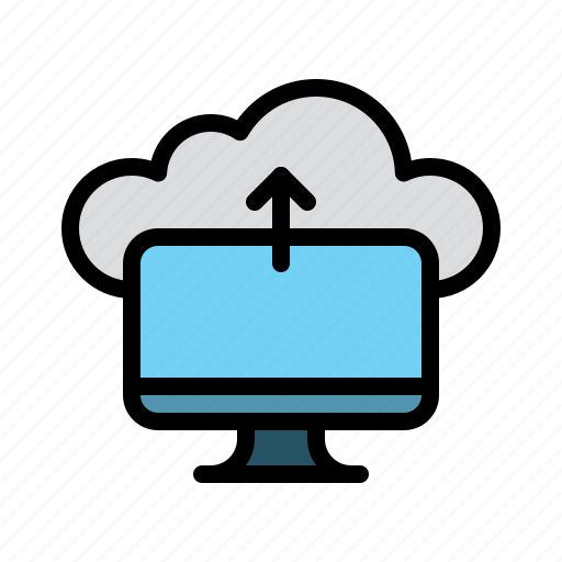 cloud, computer, data, technology, upload icon
