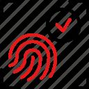 fingerprint, scan, biometric, security