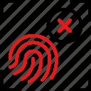 fingerprint, scan, biometric, identification, protection, technology