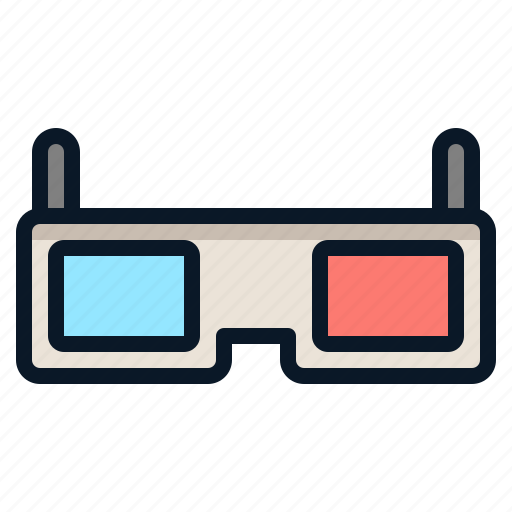 3d, device, film, glass, technology icon