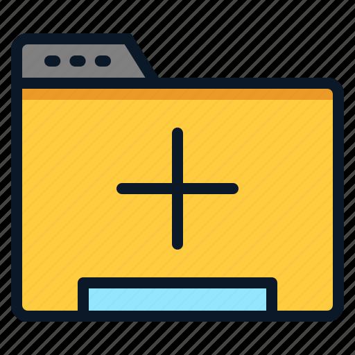 add, data, file, folder icon