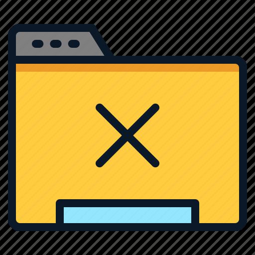 cross, data, file, folder icon