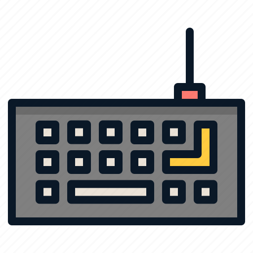 input, keyboard, typing, wired icon