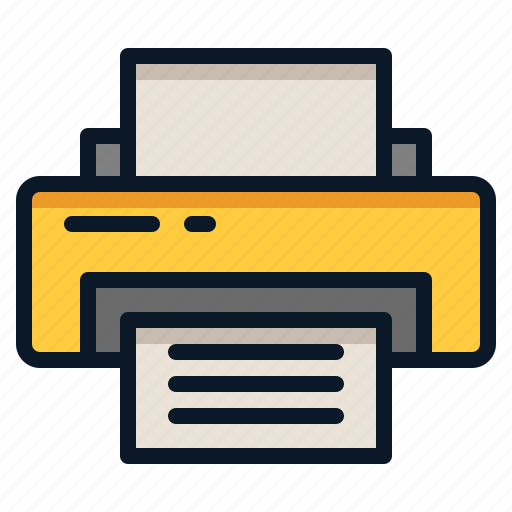 Paper, document, printer, ink icon - Download on Iconfinder