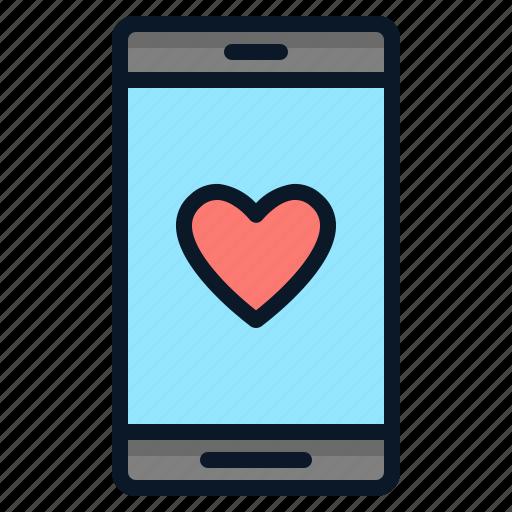 Love, smartphone, technology, like, social icon