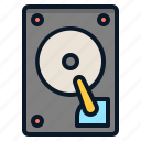 data, harddisk, storage, technology icon