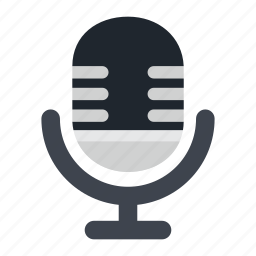 audio, communication, device, mic, microphone, minimalistic, plain, sound, subtle, tech, technology icon