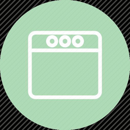 browser, navigator, software, window, window icon icon