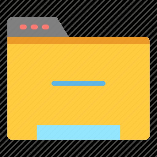 data, file, folder, minus icon