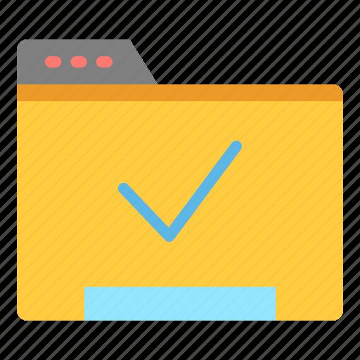 data, file, folder, verify icon