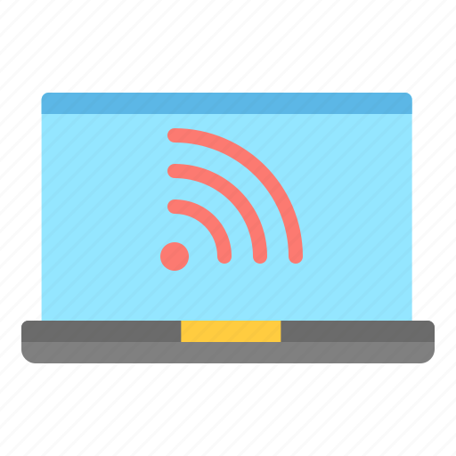 connectifity, laptop, notebook, technology, wifi icon