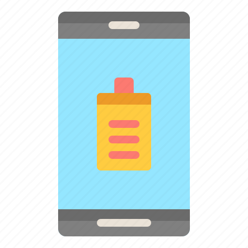 Battery, phone, charge, technology, energy icon