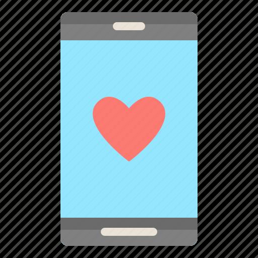 like, love, smartphone, social, technology icon