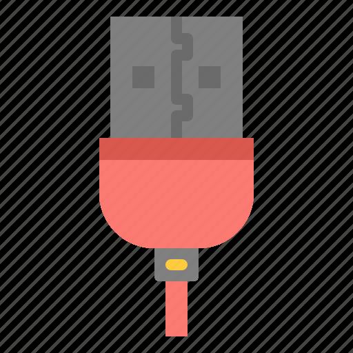 cable, interface, plug, usb icon