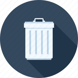 bin, delete, garbage, junk, recycle, remove, trash icon