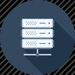 array, hosting, network, rack, server, storage, system icon