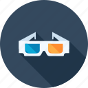 3d, cinema, entertainment, film, glasses, media, stereoscopic icon