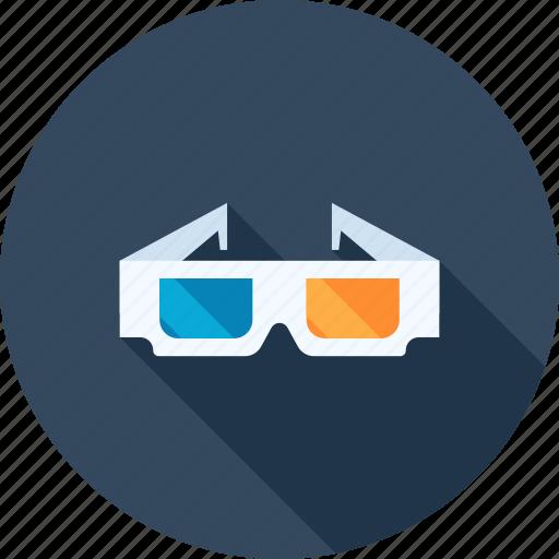 3d, cinema, entertainment, film, glasses, media, stereoscopic icon